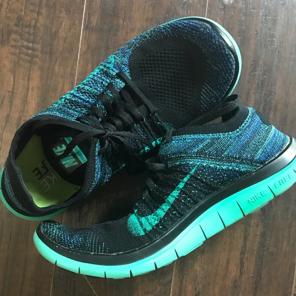 premium selection 8d1f4 563f0 ebay nike flyknit 4.0 blue and green 27ca3 6e773